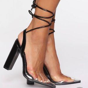 Black Fashion Nova Pumps - never worn!